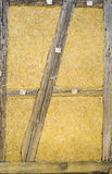 Traditional wattle and daub wall. Showing frames and infills Stock Images