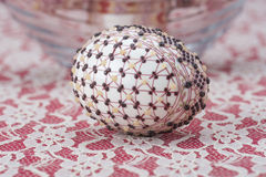 Traditional wax painted Easter egg Royalty Free Stock Image