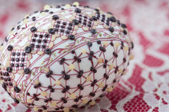 Traditional wax painted Easter egg Royalty Free Stock Photography