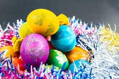 Traditional way of decorating eggs Stock Photography