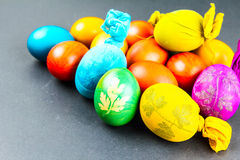 Traditional way of decorating eggs Royalty Free Stock Photos