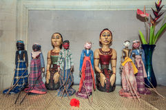 Traditional Wayang Bali Indonesia. Stock image of traditional wayang collections in the wall Stock Photo