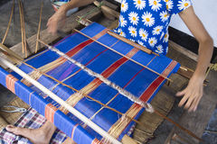 Traditional weaving Stock Image