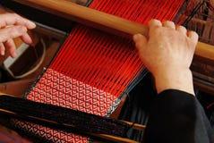 Traditional weaving hand loom Stock Image