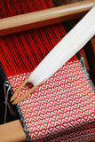 Traditional weaving hand loom Royalty Free Stock Photo