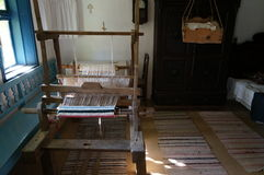 Traditional weaving loom. For carpets in traditional rustic house in Romania Royalty Free Stock Image