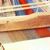Traditional weaving loom detail Stock Photo