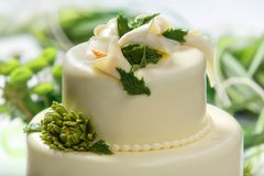 Traditional wedding cake Stock Photography