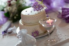 Traditional wedding cake Stock Photo