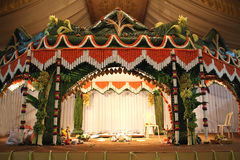 Traditional Wedding Stage Royalty Free Stock Photos