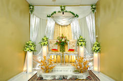 Traditional wedding stage Stock Photos
