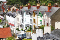 Traditional Welsh Terrace Houses Royalty Free Stock Photography