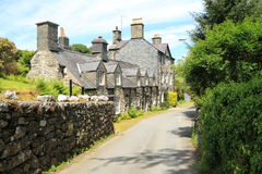 Traditional Welsh village cottages Royalty Free Stock Photo