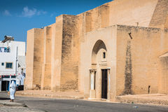 Traditional white-blue house from kairouan, Tunis Royalty Free Stock Image