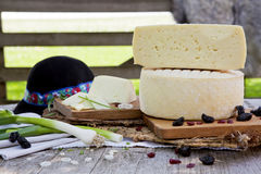Traditional white cheese. Stock Photography