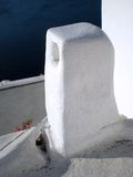 Traditional white chimney in Santorini Royalty Free Stock Photography