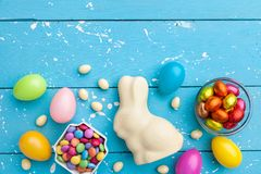 Traditional white chocolate Easter holiday bunny royalty free stock photo