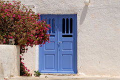 Traditional white house in Greece stock image