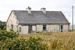 Traditional Irish house, Ireland. Traditional white stone house with shingle roof, west of Ireland Stock Images