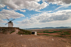 Traditional white windmill in Consuegra, Spain Royalty Free Stock Image