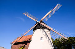Traditional White Windmill Stock Photos