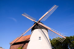 Traditional White Windmill Stock Photography