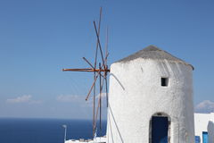 Greek windmill Royalty Free Stock Photo