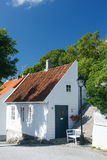 Traditional white wooden house in Norway Royalty Free Stock Photography