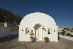 Traditional whitewashed church Stock Photos