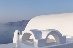 Traditional whitewashed Cycladic house in Oia Royalty Free Stock Images
