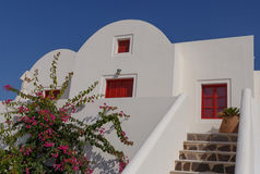 Traditional whitewashed house in Oia Stock Image