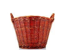 Traditional wicker basket Stock Photos