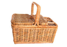 Traditional Wicker picnic basket Stock Images