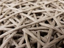 Traditional wicker work. Braid made of threads and ribbons Stock Photography