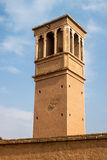 Traditional wind tower in Kashan Royalty Free Stock Images