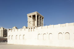 Traditional Wind Tower in Sharjah. Traditional arabic wind tower in the old town of Sharjah, United Arab Emirates Royalty Free Stock Image