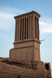 Traditional wind tower in Yazd Royalty Free Stock Images