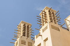 Traditional Wind Towers in Dubai Stock Photo