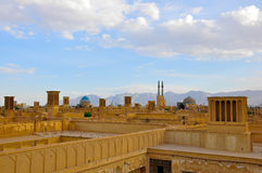 TRADITIONAL WINDCATHERS IN YAZD Royalty Free Stock Photo
