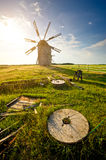 Traditional windmill on the countryside Stock Photo