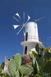 Traditional windmill at Crete, Greece Stock Images