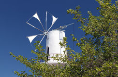Traditional windmill from Crete, Greece Royalty Free Stock Photos