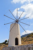 Traditional windmill at Crete island Stock Images