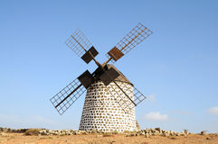 Traditional Windmill on Fuerteventura Stock Image
