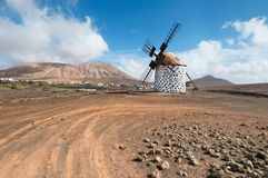 Traditional windmill in Fuerteventura Stock Images