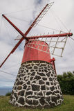 Traditional windmill on island Faial Stock Image