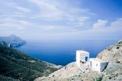 Traditional Windmill on Karpathos Island, Greece Stock Image