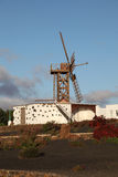 Traditional windmill, Lanzarote Stock Image