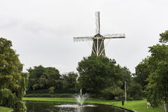 Traditional windmill in Leiden, The Netherlands Royalty Free Stock Image