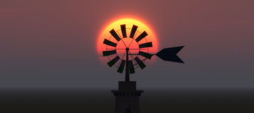 Traditional windmill in Mallorca, Balearic Islands Stock Images